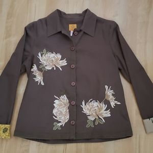 Ruby Rd. Embroidered Floral Jacket